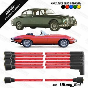 Jaguar XK6 2.8, 3.4, 4.2 Powerspark Ignition Leads in 8mm Red Silicone