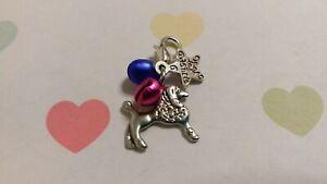 CUTE Dog Collar Charm Dog & Star Charm + Small Bells