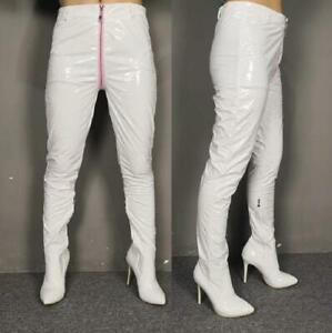 SEXY Custome-made Women Nightclub Waist Long Pants High Stilettos Boots Pointed