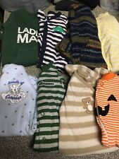 Baby boys clothes size Newborn, 0-3 & 3 Months one pc. outfits Winter EC