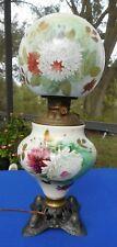"Antique 24"" GWTW  Converted Oil/Kerosene Hurricane Banquet Parlor Victorian Lamp"