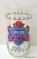 Super Bowl XXVII Game Statistics Glass 1993 Pasadena Rose