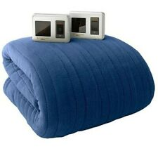 BIDDEFORD Heated MICRO PLUSH Electric Blanket DUAL DIGITAL controller-King/ Blue