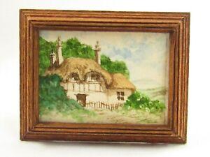 Miniature Original Watercolor Painting By H. Dean Pillion For Dollhouse E399
