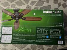 """Hunter 53242 Builder Elite - 52"""" New Bronze Ceiling Fan - Brand New. Ships free"""