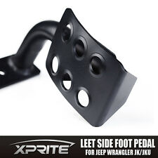 Xprite Black Metal Dead Pedal Left Side Foot Rest Kick Panel for 2007-2016 Jeep