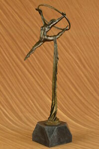 Art Nouveau Leaping Dancer Museum Quality Artwork by French Artist Milo Figurine