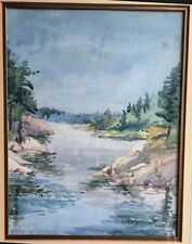Lynn Sissons Watercolor-Throat To Rapids-Signed - 1980s -Canadian Artist