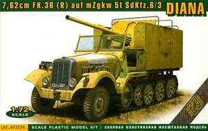 Ace Models 1/72 Sd.Kfz.6/3 DIANA with 7.62 FLAK 36 auf mZgKw 5t Half Track