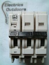 SQUARE D 16 AMP TYPE 3 M9 TRIPLE POLE MCB CIRCUIT BREAKER 240/415V QOE BS 3871