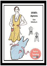 1930's Apron Sewing Pattern - Reproduction