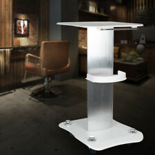 Rolling Beauty Salon Trolley Cart Equipment Barber Machine Storage Stand White