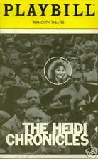 THE HEIDE CHRONICLES Broadway Playbill - Cynthia Nixon