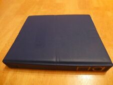 BLUE LUXURY PADDED RING ALBUM & LEAVES, VERY GOOD CONDITION