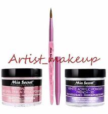 Mia Secret Acrylic Nail Powder White + Multibalance 2 oz + Kolinsky Brush # 3D