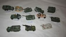 Lot Of Old Vintage Hot Wheels Army Vehicles Truck Tank 70's - 90's