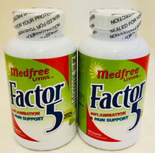 Factor 5 Inflammation and Pain Relief (2 Bottles) - 120 Capsules
