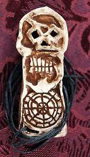 GOONIES Chester Copperpot Bones Key ORIGINAL ART Sculpture Ceramic Tiki Pendant