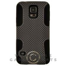 Samsung Galaxy S5 Hybrid Mesh Case - Gray/Black Cover Shell Protector Guard
