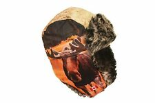 MOOSE CANADA ADULT TRAPPER FURRY WINTER HAT ..NEW