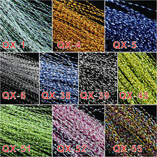 Fly Tying Material 10 Bags 30cm Crystal Flash 10 Colors (150pc Each)