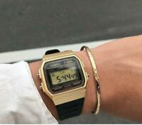 Casio F91WM-9A Gold Resin Strap Digital Sport Authentic Watch Classic!