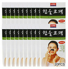 Korean Charcoal Nose Pore Cleansing Strips Blackhead Peel Off mask pack_20 pcs