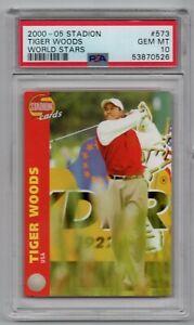 2002 STADION WORLD STARS TIGER WOODS ROOKIE RC USA PSA 10 GOAT !!!POP 1!!!