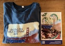 Sausalito Art Festival 2011 Graphic Design Size L Blue T-Shirt & Festival Guide