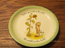 "1972- Holly Hobbie Collectible Plate "" When you smile at the world """