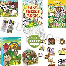 Kids Ready Made Farm Paper Party Bags Boys Girls Filled Bags