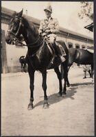 YZ0339 Fossano (CN) 1939 - Alpino a cavallo - Fotografia d'epoca