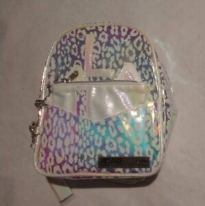 NWT Justice Girls Leopard Holo Initial Mini Backpack You Pick Letter