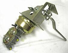 Universal 90 Degree Under Dash Power Brake Pedal w Booster Master Cylinder Kit