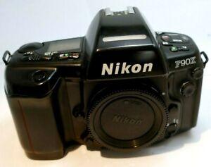 Nikon F90X / N90S 35mm SLR Film Camera Body Only (black) - works good