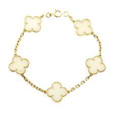 Van Cleef Arpels White Coral Alhambra Bracelet (0000399)