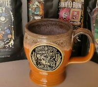 NEW Deneen Pottery - Bones Coffee Co. 2020 JACKED O' LANTERN Goblet Mug Cup USA