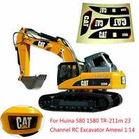 1:14 Aufkleber Decals Set für Huina 580 TR-211m 23 CH RC Bagger Amewi Excavator