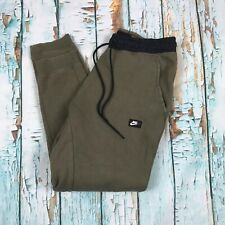 5bfc4d8d7a98 Nike Sweatpants Medium Mens Green Camo Army Olive Joggers Tracksuit Bottoms