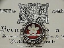 Catholic Holy Papal Relic St. Philomena Flower Reliquary with Documentation