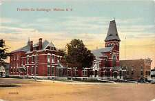 Malone New York Franklin Co Buildings Street View Antique Postcard K34185