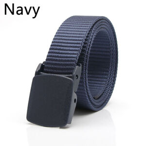 Men's Military Waist Belts Band Travel Tactical Waistband with Plastic Buckles