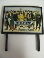 Underground - For Business or Pleasure - Model Railway Billboard - N & OO Gauge