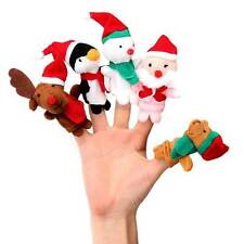 5pcs/Set Finger Puppets Toys Snowman Baby Stories Helper Fingers Kids Xmas Gift
