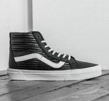 822f9c396d VANS Sk8 Hi Reissue Moto Leather Black blanc De Blanc Women s Shoes Size 8