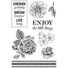 WANDERING IVY Collection Clear Unmounted Rubber Stamp Set Kaisercraft CS316 New