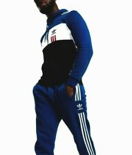 XL  adidas Originals MEN'S  ID96  FZ  TRACK HOODIE & PANTS Slim Fit  BLUE  Last1