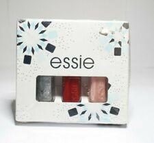 Essie Christmas Mini Trio Nail Polish Kit Pack of 3 x 5ml New & Sealed PR474 011