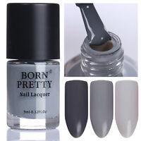 9ml Nail Color Changing Polish Temperature Thermal Varnish Born Pretty Grey