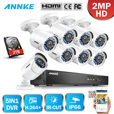 ANNKE 16CH HDMI 1080P Video 3MP DVR Outdoor CCTV Home Security Camera System 2TB